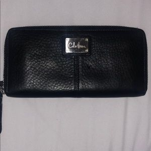 Cole Haan black zipper round Wallet
